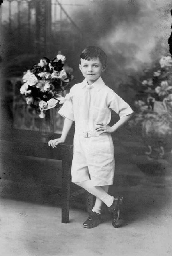 Joseph B., the nine-month-old victim of Case 1173, as a boy. (Chevalier Jackson papers, 1890-1964, History of Medicine Division, National Library of Medicine)